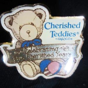 "Enesco Accessories - 5 FOR $25 1997 ENESCO ""Cherished Teddies Tie  Tack"